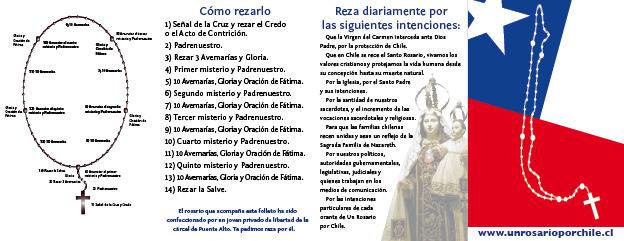 triptico de bolsillo para rezar el rosario