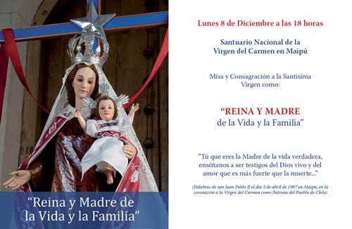 Un Rosario Por Chile Consagración A La Virgen Del Carmen