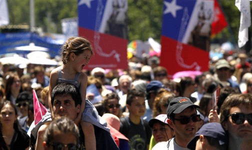 El Rosario en el cielo, y 50 mil católicos en la Alameda