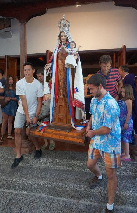 virgen del carmen misionera parroquia santa teresa barnechea