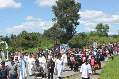 Encuentros Marianos Villarrica procesion
