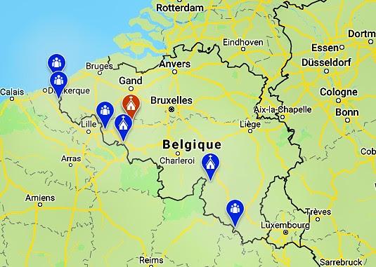 Rosario en la frontera Bélgica
